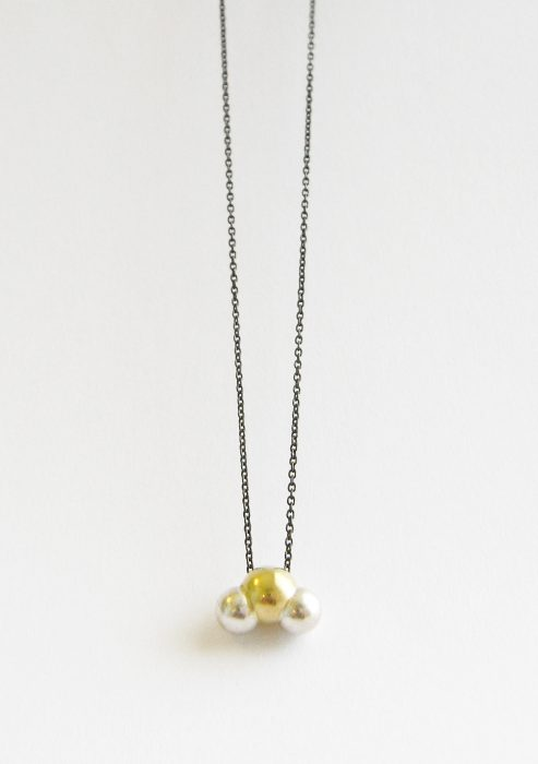 < something important >, O2, H2O, necklace material: 18K gold, silver925